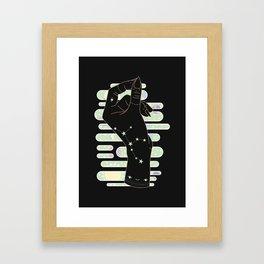 Virgo - Zodiac Illustration Framed Art Print