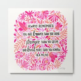 Always Remember – Pink Ombré Palette Metal Print