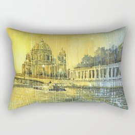 Berlin Cathedral- Germany.  Fine art watercolor painting Rectangular Pillow
