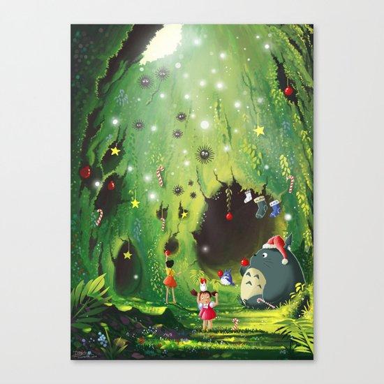 Totoro Christmas Canvas Print