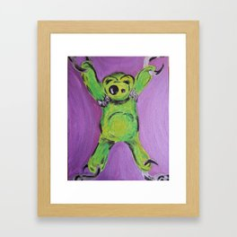 Stretching Framed Art Print
