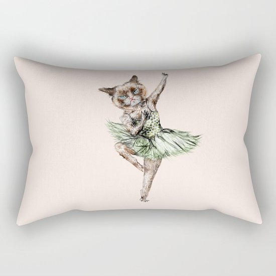 Siamese Ballerina in Cat Ballet  Rectangular Pillow