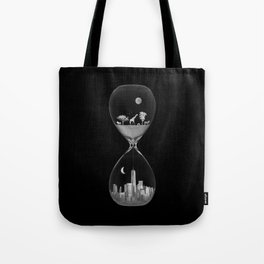 THE EVOLUTION OF THE WORLD b/w Tote Bag