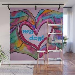 I Heart my Dog Wall Mural