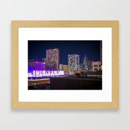 Denver Night Framed Art Print