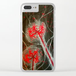 Dark Lily Clear iPhone Case