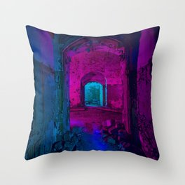 COLORFUL bunker Throw Pillow