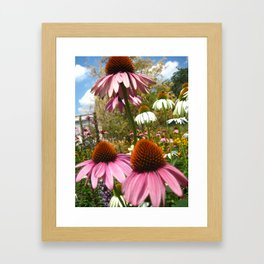 Flowers at Washington Square Park in NYC Framed Art Print