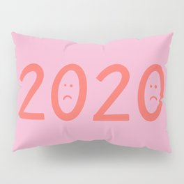2020 Unhappy Emoji Year Pillow Sham