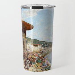 Alberto Pasini Market Day in Constantinople Travel Mug