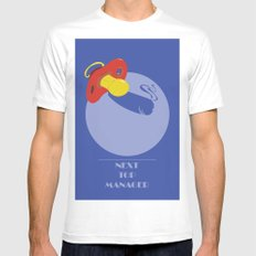 Next Top Manager White MEDIUM Mens Fitted Tee