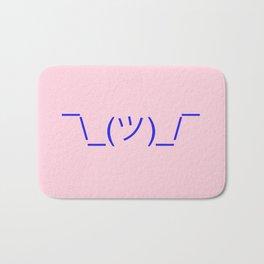 Hands Up Emoji Shrug - Pink and Blue Bath Mat