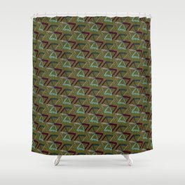 Abstract Umbrella Shower Curtain
