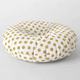 Gold Glitter Polka Dots Floor Pillow