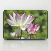lotus flower iPad Cases featuring Lotus by Catherine Stuckrath
