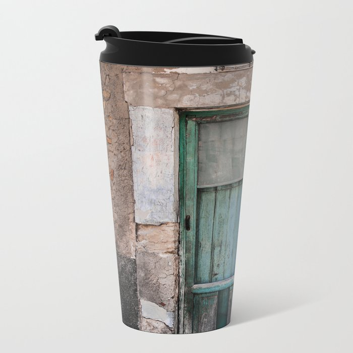 Green Door II Metal Travel Mug