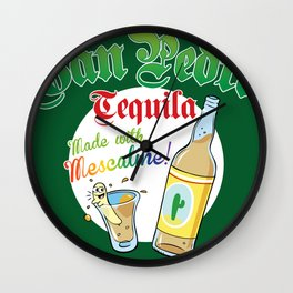 San Pedro Tequila Wall Clock