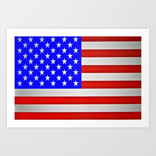 God Bless America ! Art Print