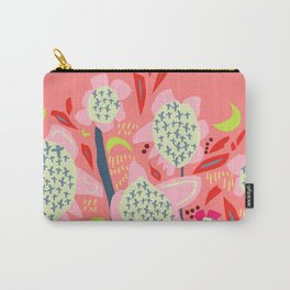 Abstract Floral Sunflowers Sunset Colours  Carry-All Pouch
