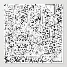 Hardware Black Canvas Print