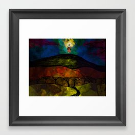 Lantern on a Hill Framed Art Print