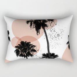 Black and White Palm Trees Rectangular Pillow