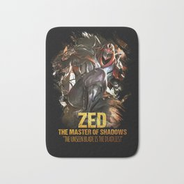 League of Legends ZED - The Master Of Shadows - Video games Champion Bath Mat