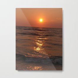THE WARM RED RING Metal Print