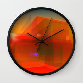 red glass and a lilac reflection Wall Clock