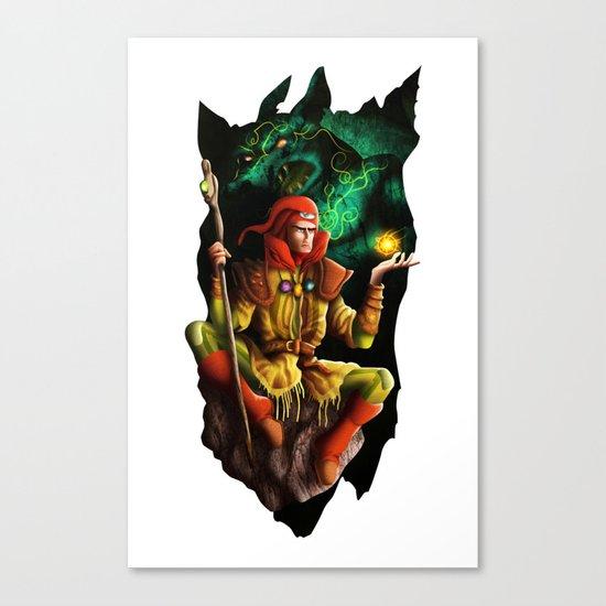 A wizard in the dark Canvas Print