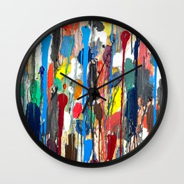 Paint upwards Wall Clock