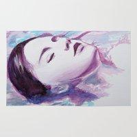 siren Area & Throw Rugs featuring Siren by Arielle Walker