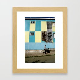 Point Arena Man Framed Art Print
