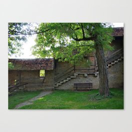 Rothenburg ob der Tauber - behind the fortification wall Canvas Print