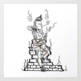 Ghost Punk Art Print