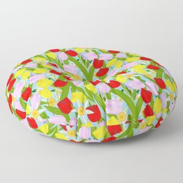 bright spring flowers Floor Pillow