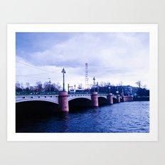 The bridge of memories. Art Print