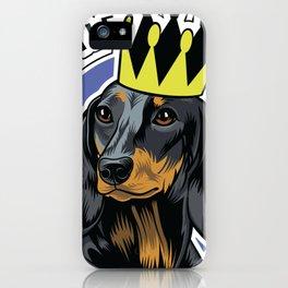 Black and tan dachshund head iPhone Case