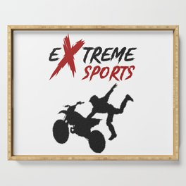 Extreme Sport Motorcycle Stunt Motocross Serving Tray