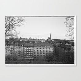 Stockholm rooftops Canvas Print