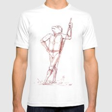 Donatello Mens Fitted Tee White MEDIUM