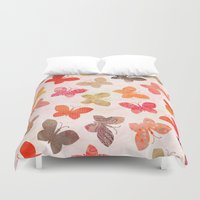 valentina Duvet Covers featuring BUTTERFLY SEASON by Daisy Beatrice