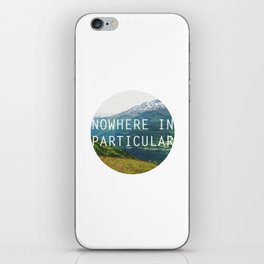 nowhere in particular iPhone Skin
