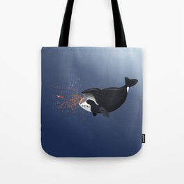 Pinocchio and the Bowhead whale Tote Bag