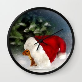 Santa Squirrel Wall Clock
