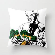 Iron Mike Throw Pillow