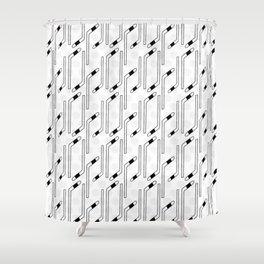 Hockey Stick Pattern Shower Curtain