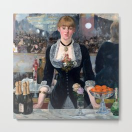 "Édouard Manet ""A Bar at the Folies-Bergère"" Metal Print"