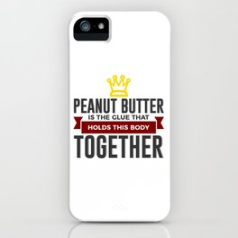 Love Peanut Butter Funny Foodie Design iPhone Case