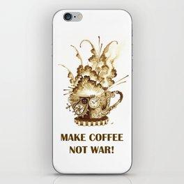 Steampunk 'Make Coffee Not War' Coffee Cup iPhone Skin